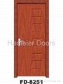 Cheap PVC MDF interior doors 5