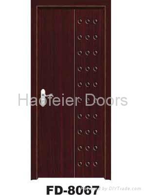 PVC MDF Wooden door manufacturers 1