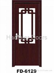 Glass door(PVC mdf bathroom door)