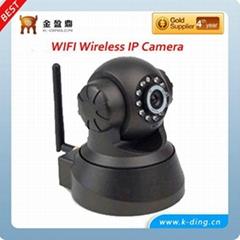 Wireless IP Camera with 1/4 CMOS Sensor 300k Pixel Two Way Audio 10 Meters IR D