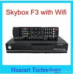 Skybox F3 HD digital satellite receiver with USB Wifi