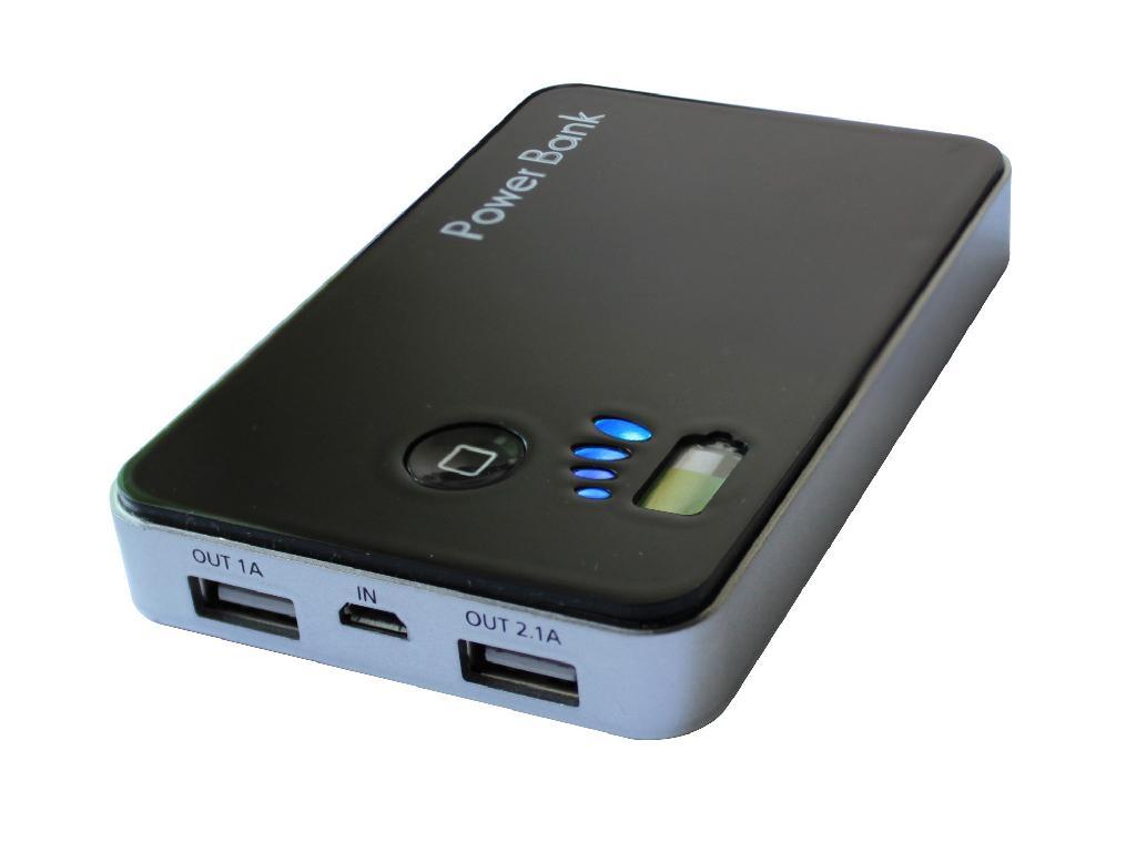 Dual Usb 5000mah External Portable Power Pack Pb5000a
