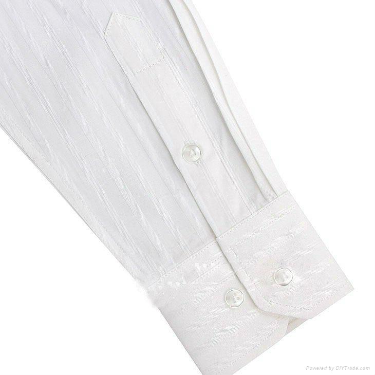 MEN'S long sleeve white dress shirt 3