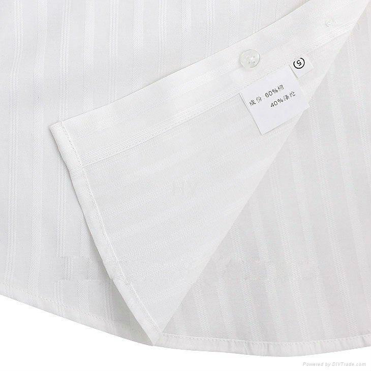 MEN'S long sleeve white dress shirt 5