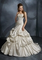 Strapless ball gown embroidery taffeta