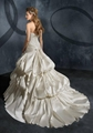 Strapless ball gown embroidery taffeta beading bridal wedding dress 2