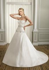 Elegant strapless trumpet   beading  bridal wedding dress