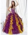 Fashion strapless ball gown purple and