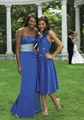 2012 newest strapless A-line royal blue