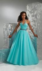2012  halter ball gown beading  long
