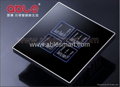Crystal glass panel touch switch