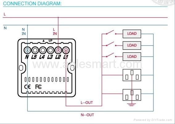 Crystal glass panel touch switch 2