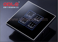 2 gangs Curtain control touch switch