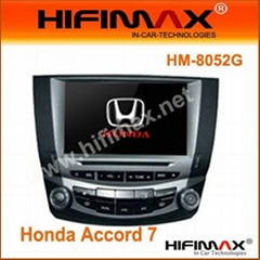 8'' Two-Din DVD with AM FM TV USB SD BT IPOD for Honda Accord 7