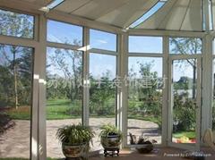 無錫鋁合金門窗供應,無錫斷橋鋁門窗設計,別墅陽光房