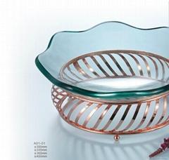 鋼化玻璃果盤