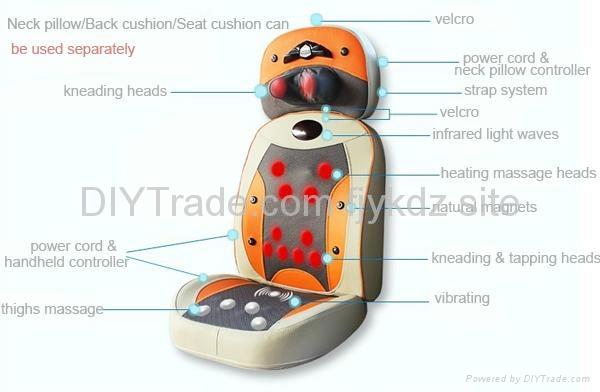 Luxury Electric Massager Shiatsu Massage Chair Cushion 3