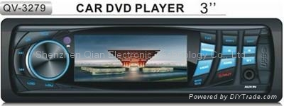 """1 DIN car DVD player with 3"""" TFT Screen QV-3279 1"""