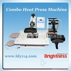 4 in 1 Combo Heat Press Machine Cutom Mug,Plate & T-shirt Press