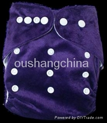 Wholesale+one size baby washable cloth diapers/baby nappy in beauty