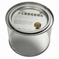 tin box with pvc clear window