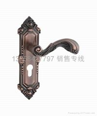 欧式红古铜青古铜执手门锁