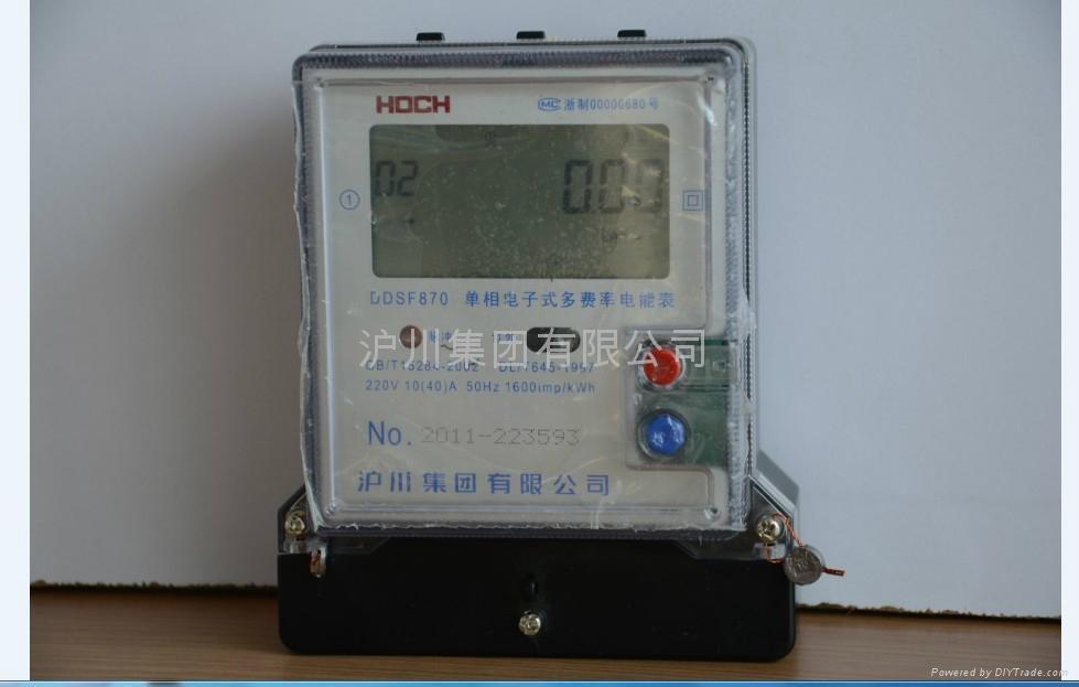 c:电能表安装尺寸图: d:电能表接线图 dtsf870型三相四线直接式接线图