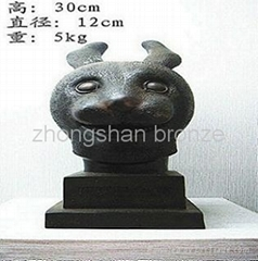 bronze antique imitation Rabbit's Head