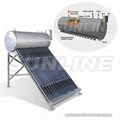 Compact pressurized vacuum tube Solar