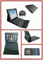 Bluetooth silicon Keyboard for Ipad with leather bag