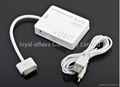 3 USB 5 in1 Camera Connection Kit Card Reader SD TF MS M2  HUB for iPad 2 iPad3