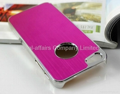 Luxury multi-color Brushed Aluminum Chrome Hard Case Cover For Apple iPhone 5