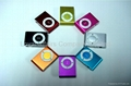mini Clip mp3 player support micro sd card/TF card with aluminum shell