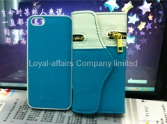 Leather Hot Purses Cell Phone Bags for iPhone 5 5g Case Pouch Wallet W Straps