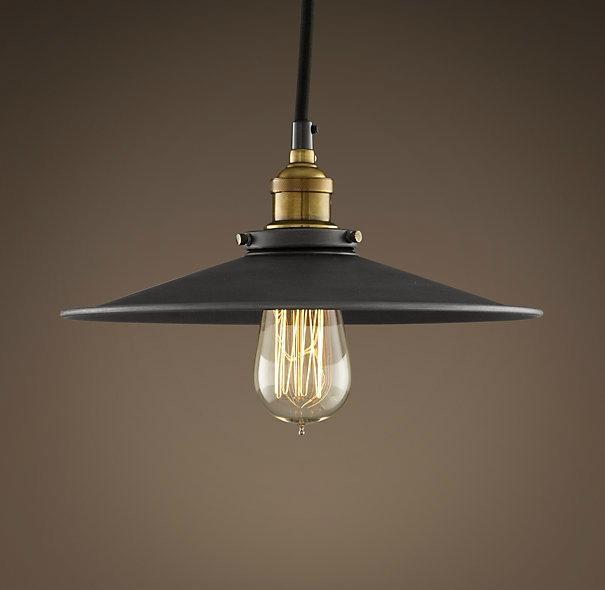pendant lighting industrial style. Vintage Industrial Style Metal Filament 27cm Pendant Aged Steel Lighting E