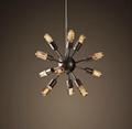 Chandelier With Edison Bulbs: Vintage RH Restoration Sputnik Filament Chandelier Aged