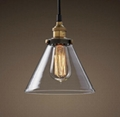 Clear Glass Cloche Filament Pendant lamp