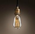 Edison Bare bulb Filament Pendant Aged