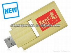 Bamboo crafted gift USB