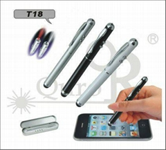 T18-stylus screen touch pen with laser and led light