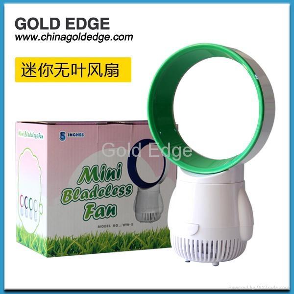 latest modern mini cooler fan 5 inch fan,gift usb bladeless fan 2