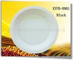 Disposable biodegradable cornstarch 9inch plate