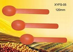 Disposable biodegradable cornstarch 6 inch PLA cheese spoon/ yogurt spoon