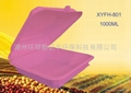 Disposable biodegradable environmental corn starch 8 inch lunch box  3