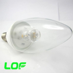 3W led candle light ceramic body led bulb light