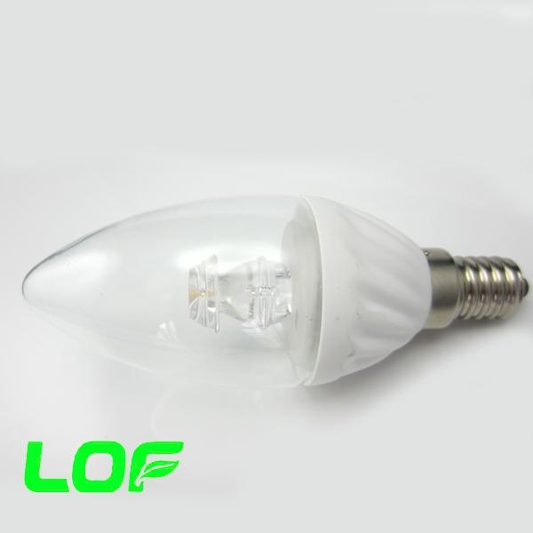 3W led candle light ceramic body led bulb light 2