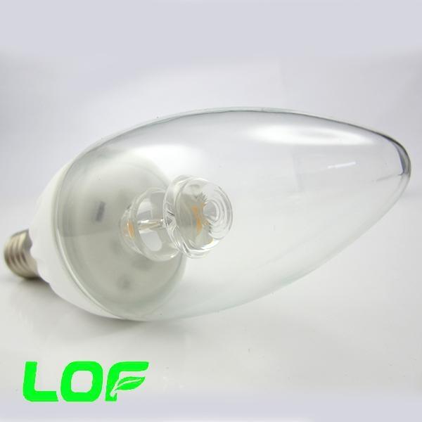 3W led candle light ceramic body led bulb light 4