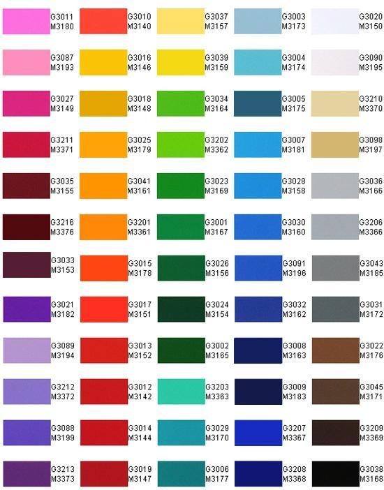 Color Pvc Self Adhesive Sticker Vinyl Various Series