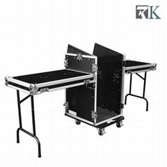 16U Mixer Rack Cases wit