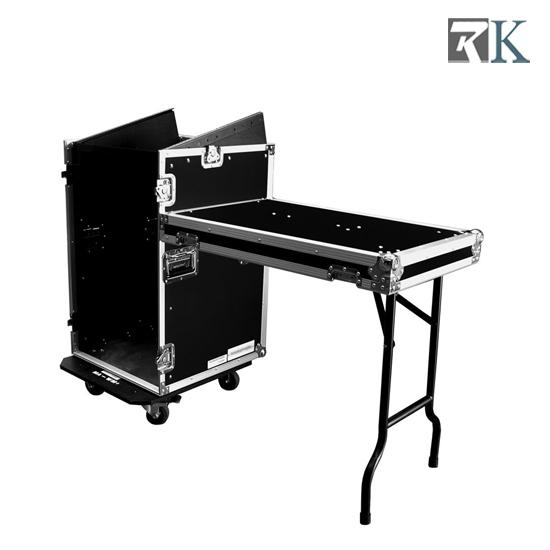 16u Mixer Rack Cases With Twin Tables For Dj Equipment